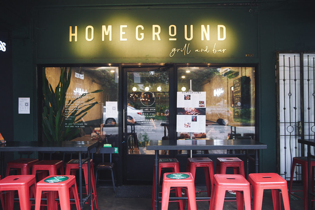 homeground grill and bar entrance
